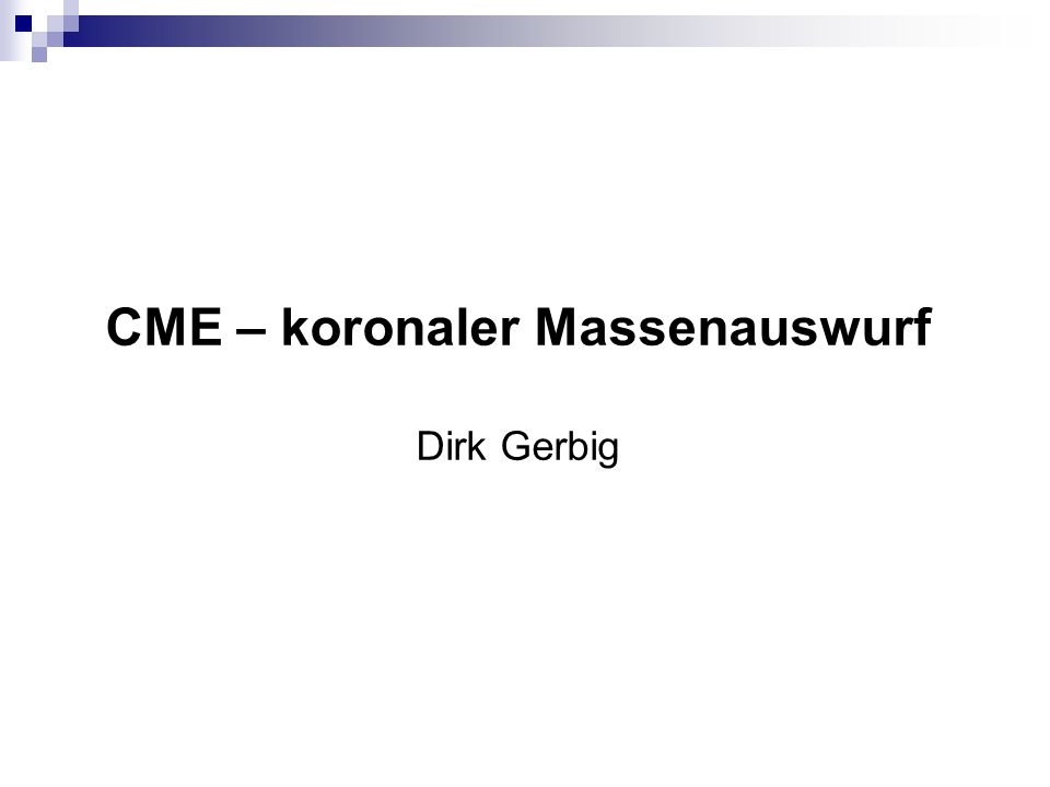 Bild von CME Magnetohydrostatische Lösung für 0 = /2