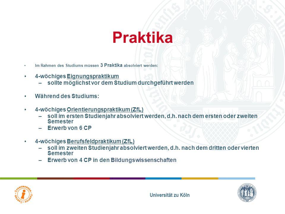 Orientierungspraktikum (OP) In Klips zu finden unter: – B.A. Bildungswissenschaften (Lehramt Gym/Ge & BK) - Schulformspezifisches Vorbereitungsseminar