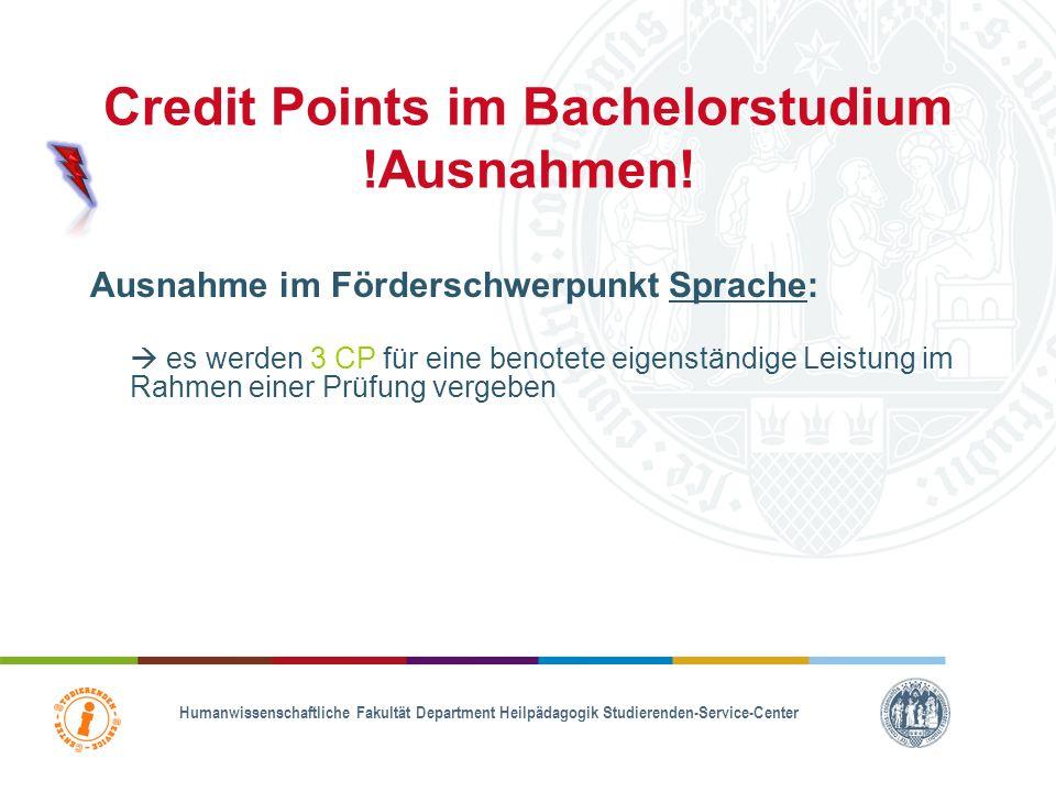 Credit Points im Bachelorstudium Während des Studiums müssen die Studierenden Credit Points für die Module in den Veranstaltungen sammeln 1. Niveau: a