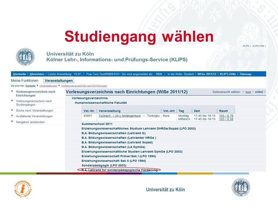 Übersicht Fakultäten Fakultät auswählen!!!