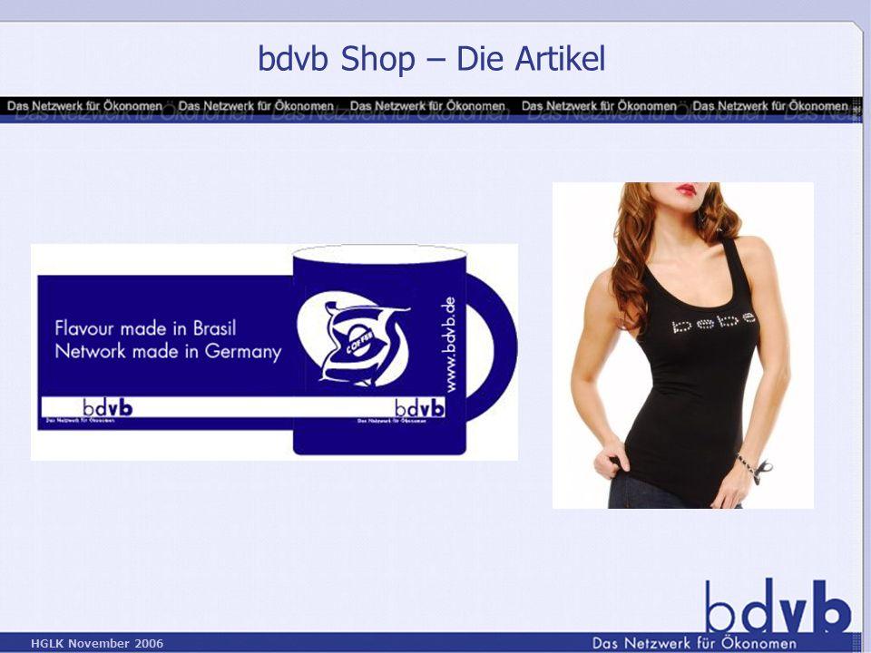 HGLK November 2006 bdvb Shop – Die Artikel