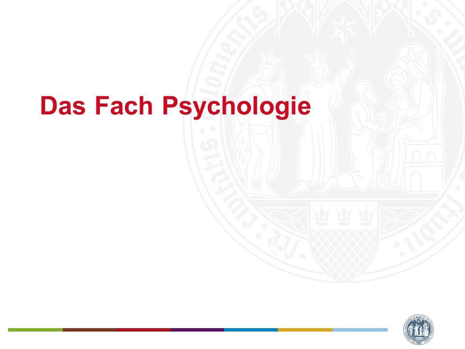 Das Fach Psychologie