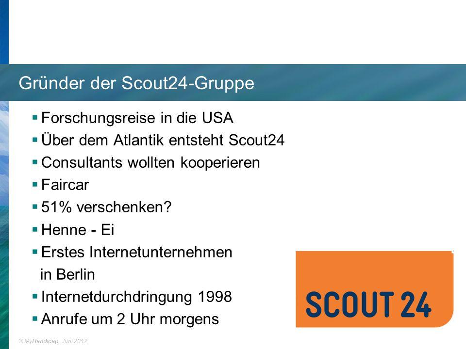 © MyHandicap, Juni 2012 Scout24 heute über 1 Mio.Immobilien über 2 Mio.