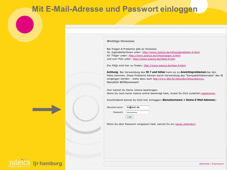Mit E-Mail-Adresse und Passwort einloggen ljr hamburg