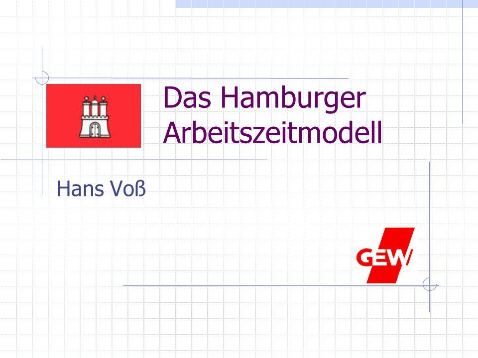 Ausgangssituation in Hamburg vor der Einführung des Arbeitszeitmodells