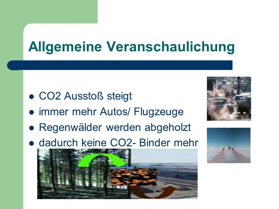 Entstehung von CO2 entsteht bei der Verbrennung von kohlenstoffhaltigen Stoffen natürlicher Bestandteil der Luft (0,04%) 36Mrd.t im Jahr weltweit CO2 entsteht bei der Zellatmung