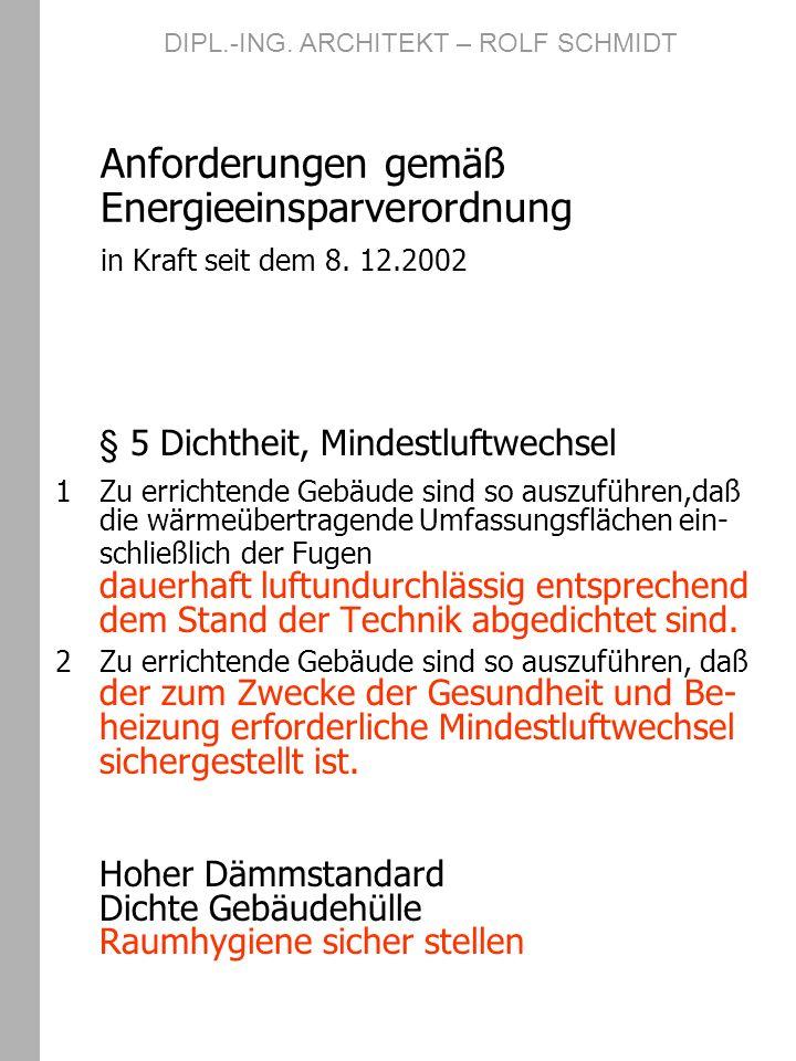 Klassiker Gebäudehülle, Fenster und Thermik WSV 1995 Fenster ????.