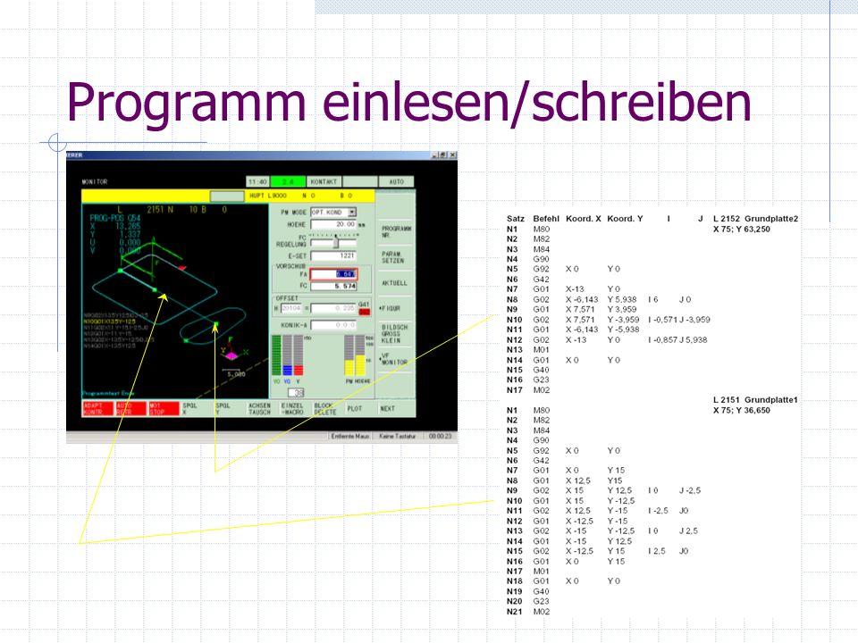Die wichtigsten Punkte vor dem Programm einlesen Maschine einschalten Workpiece Setup Referenzpunkte anfahren Ausrichten des Drahtes Werkstück spannen