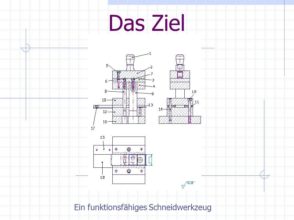 Lehrauftrag des Projektes Teamwork Entwicklung und Fertigung eines Schneidwerkzeuges Umgang mit der Erodiermaschine