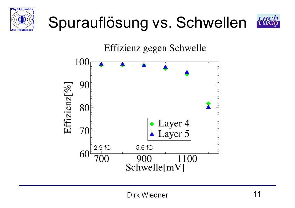 11 Dirk Wiedner Spurauflösung vs. Schwellen 2.9 fC5.6 fC