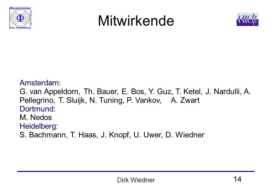 14 Dirk Wiedner Mitwirkende Amsterdam: G. van Appeldorn, Th.