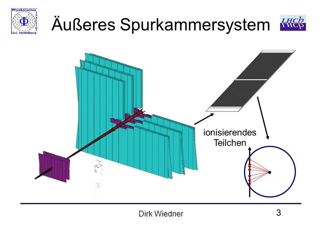 3 Dirk Wiedner Äußeres Spurkammersystem ionisierendes Teilchen