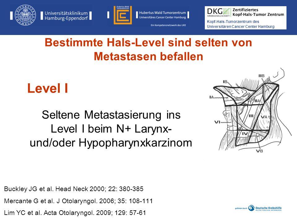 Kopf-Hals-Tumorzentrum des Universitären Cancer Center Hamburg Seltene Metastasierung ins Level I beim N+ Larynx- und/oder Hypopharynxkarzinom Buckley