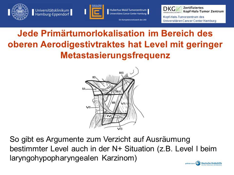 Kopf-Hals-Tumorzentrum des Universitären Cancer Center Hamburg Jede Primärtumorlokalisation im Bereich des oberen Aerodigestivtraktes hat Level mit ge