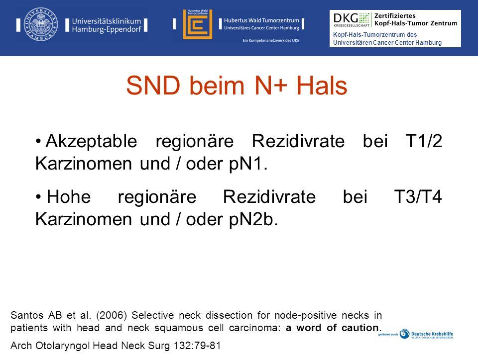 Kopf-Hals-Tumorzentrum des Universitären Cancer Center Hamburg Santos AB et al. (2006) Selective neck dissection for node-positive necks in patients w