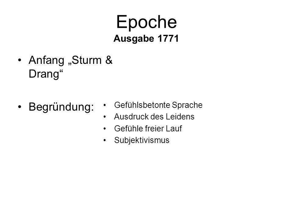 Es schlug mein Herz. Geschwind zu Pferd! Ausgabe 1785 Johann Wolfgang von Goethe