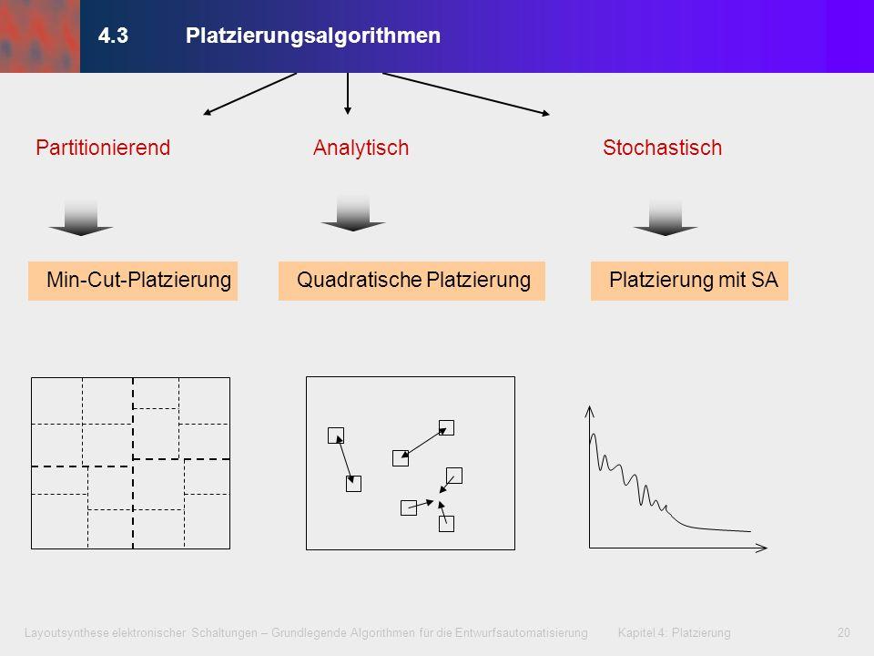 Layoutsynthese elektronischer Schaltungen – Grundlegende Algorithmen für die Entwurfsautomatisierung Kapitel 4: Platzierung20 StochastischPartitionier