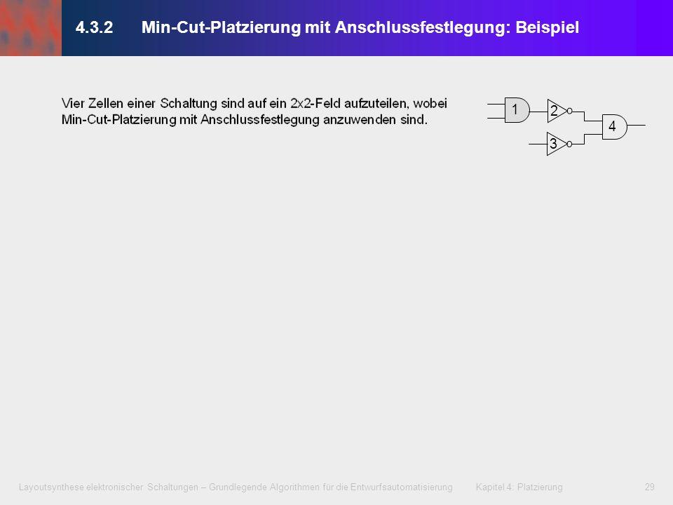 Layoutsynthese elektronischer Schaltungen – Grundlegende Algorithmen für die Entwurfsautomatisierung Kapitel 4: Platzierung29 4.3.2 Min-Cut-Platzierun