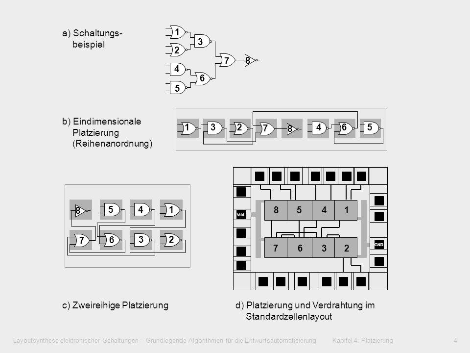 Layoutsynthese elektronischer Schaltungen – Grundlegende Algorithmen für die Entwurfsautomatisierung Kapitel 4: Platzierung4 4.3Begriffsbestimmungen a
