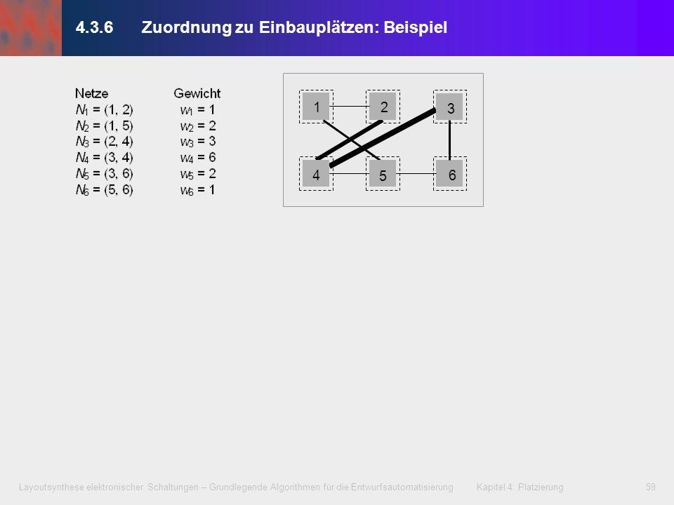 Layoutsynthese elektronischer Schaltungen – Grundlegende Algorithmen für die Entwurfsautomatisierung Kapitel 4: Platzierung59 4.3.6Zuordnung zu Einbau