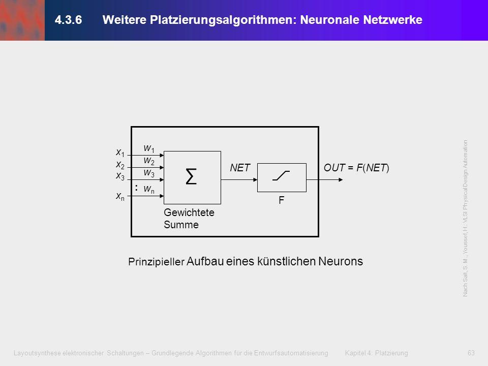 Layoutsynthese elektronischer Schaltungen – Grundlegende Algorithmen für die Entwurfsautomatisierung Kapitel 4: Platzierung63 4.3.6Weitere Platzierung