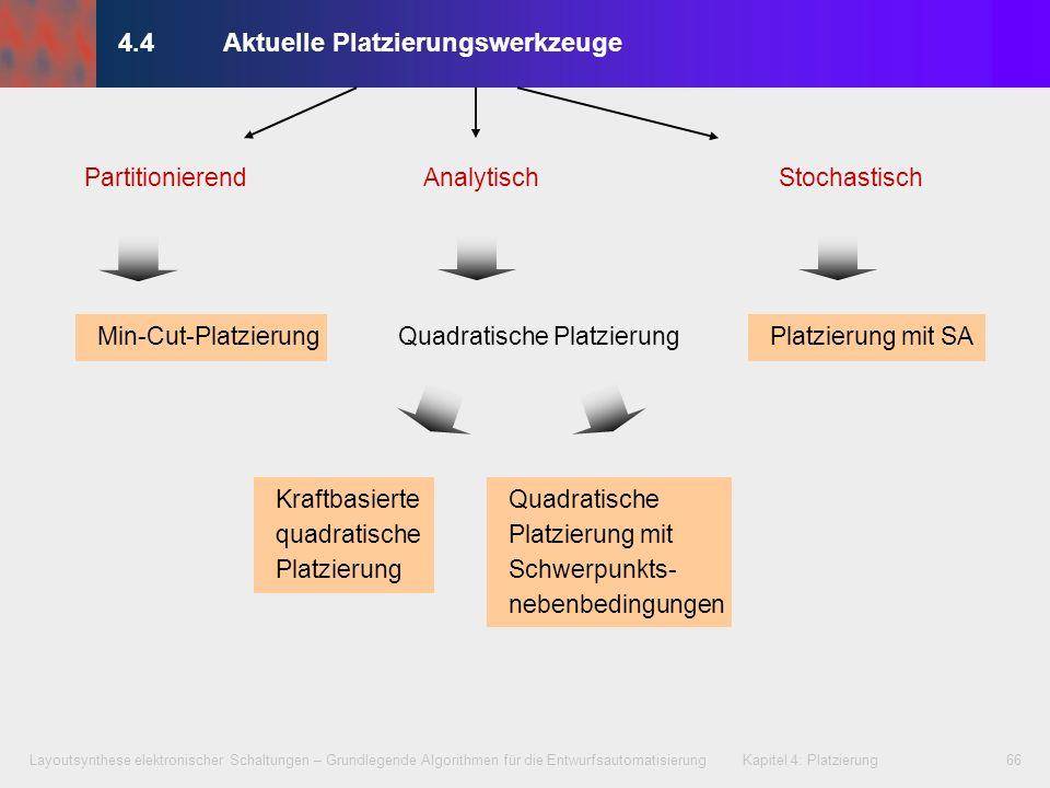 Layoutsynthese elektronischer Schaltungen – Grundlegende Algorithmen für die Entwurfsautomatisierung Kapitel 4: Platzierung66 4.4Aktuelle Platzierungs