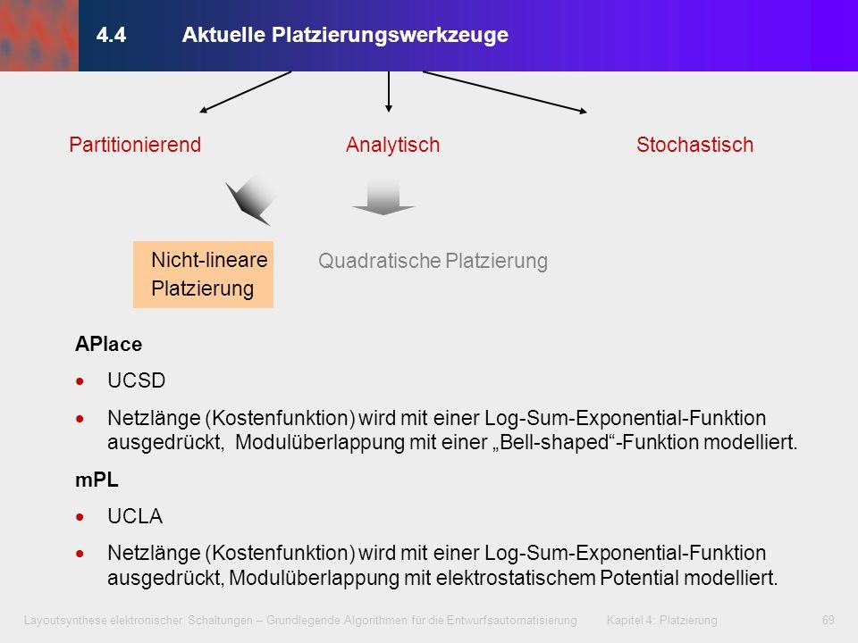 Layoutsynthese elektronischer Schaltungen – Grundlegende Algorithmen für die Entwurfsautomatisierung Kapitel 4: Platzierung69 4.4Aktuelle Platzierungs