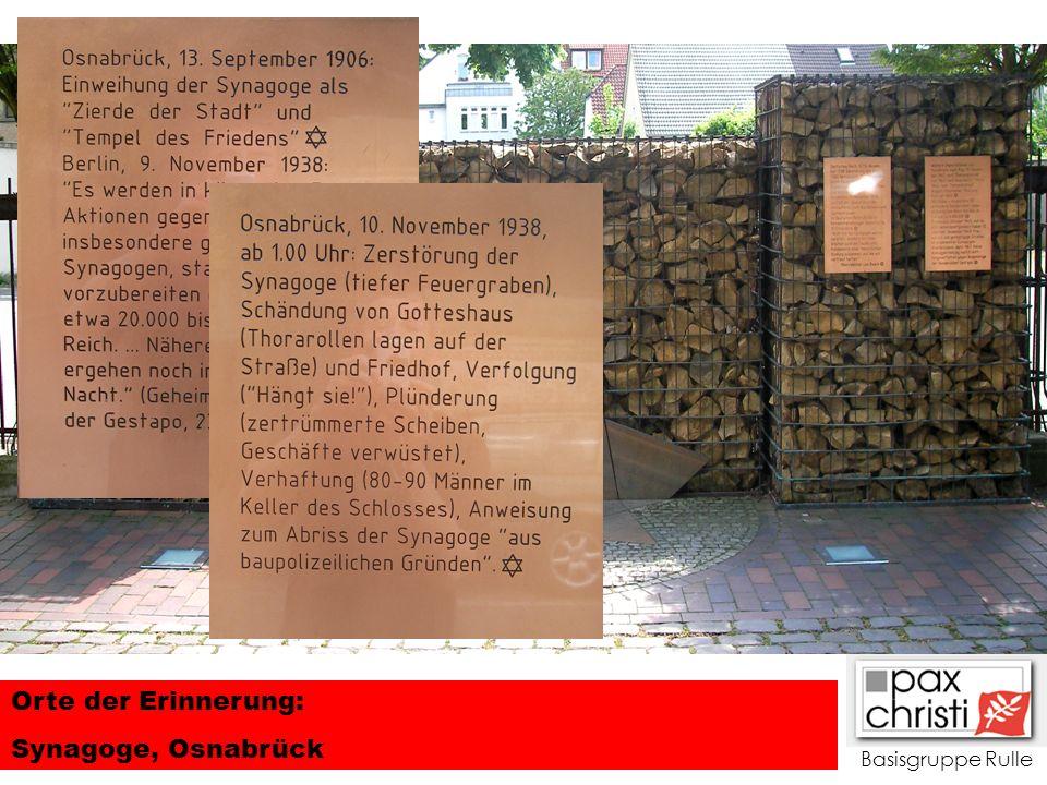Basisgruppe Rulle Orte der Erinnerung: Synagoge, Osnabrück