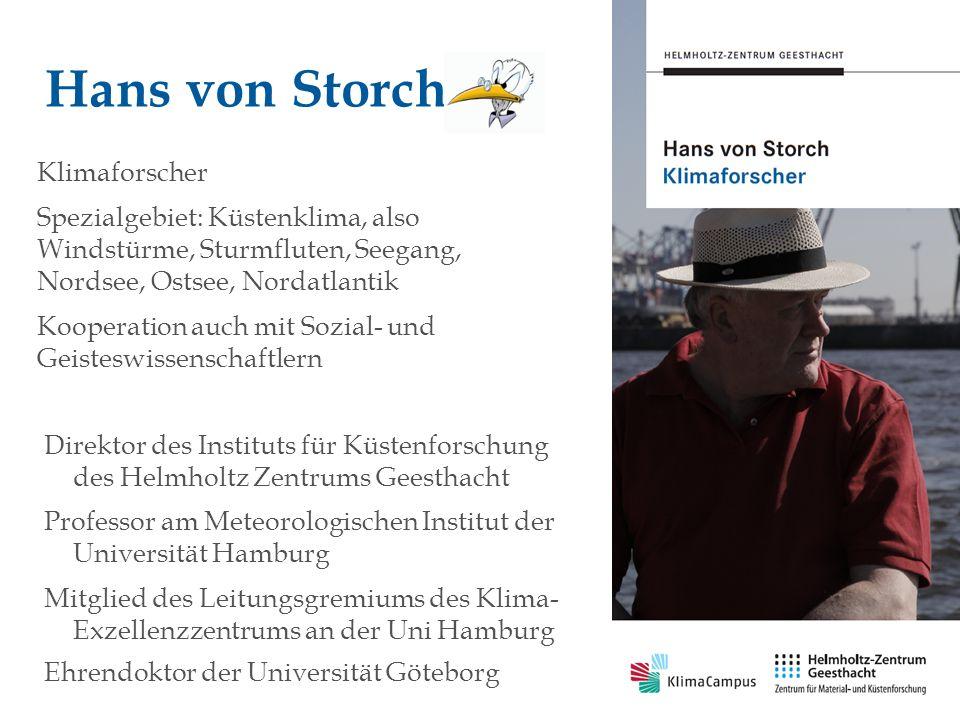 PAGE 2 Auswirkungen des Klimawandels auf die Metropolregion Hamburg Hans von Storch Helmholtz Zentrum Geesthacht und KlimaCampus Hamburg 29.