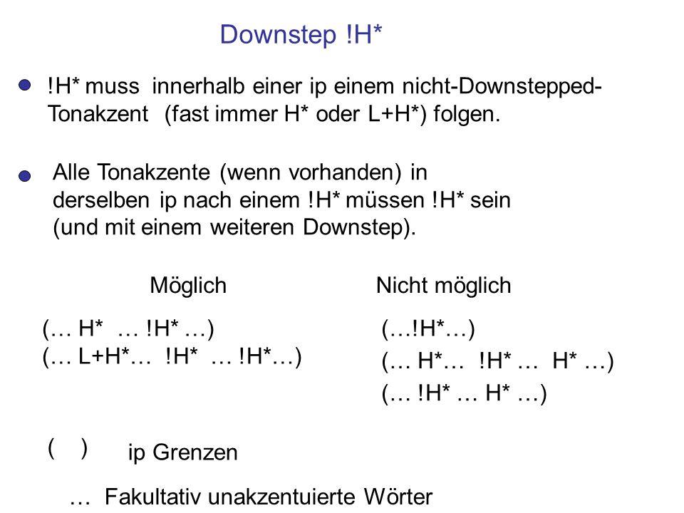 Downstep (fortgesetzt)