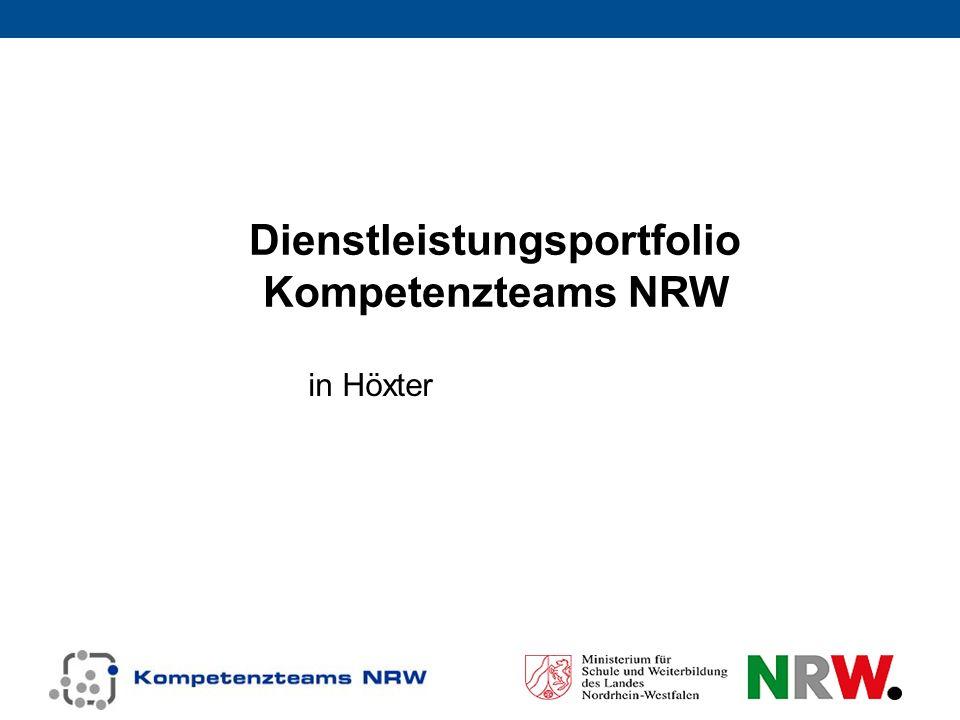 Dienstleistungsportfolio Kompetenzteams NRW in Höxter