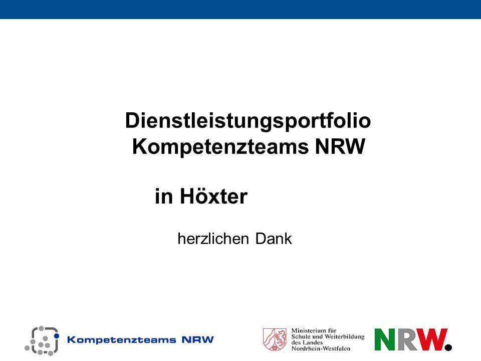 Dienstleistungsportfolio Kompetenzteams NRW in Höxter herzlichen Dank