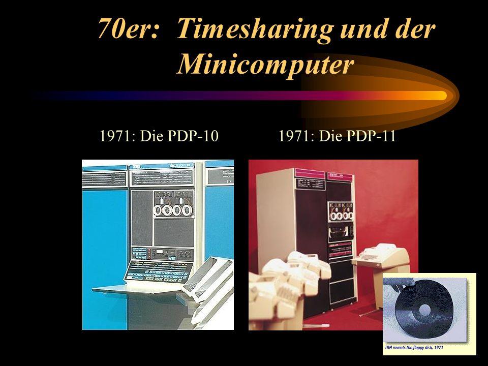 70er: Timesharing und der Minicomputer 1971: Die PDP-111971: Die PDP-10