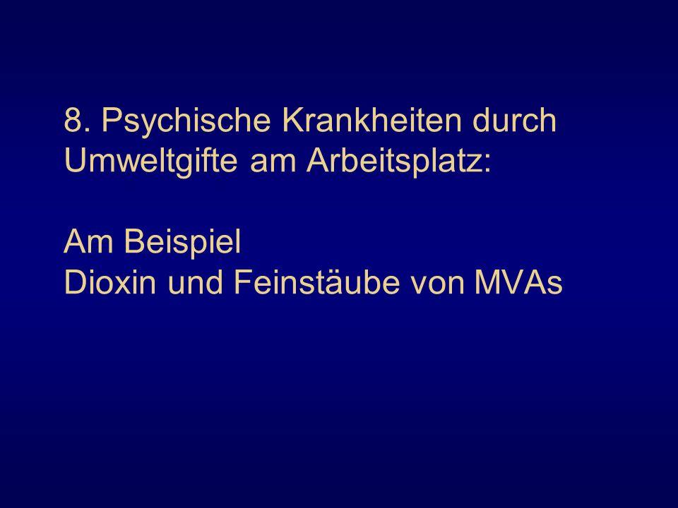 8. Psychische Krankheiten durch Umweltgifte am Arbeitsplatz: Am Beispiel Dioxin und Feinstäube von MVAs