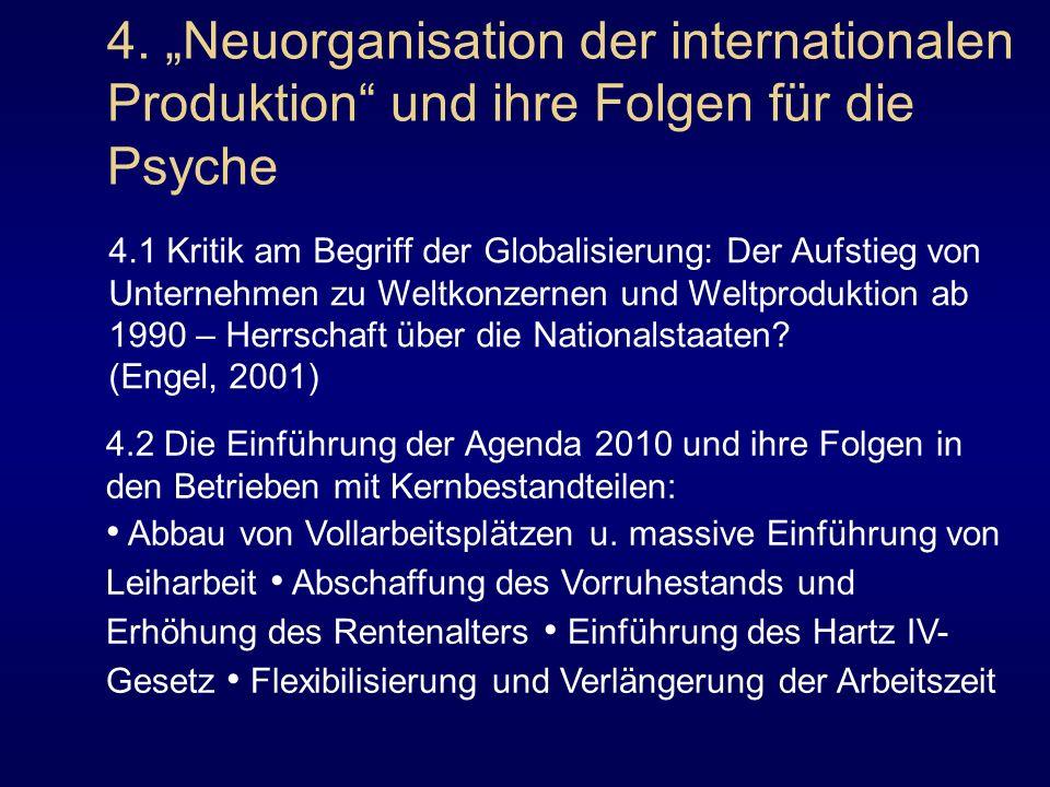 4. Neuorganisation der internationalen Produktion und ihre Folgen für die Psyche 4.1 Kritik am Begriff der Globalisierung: Der Aufstieg von Unternehme