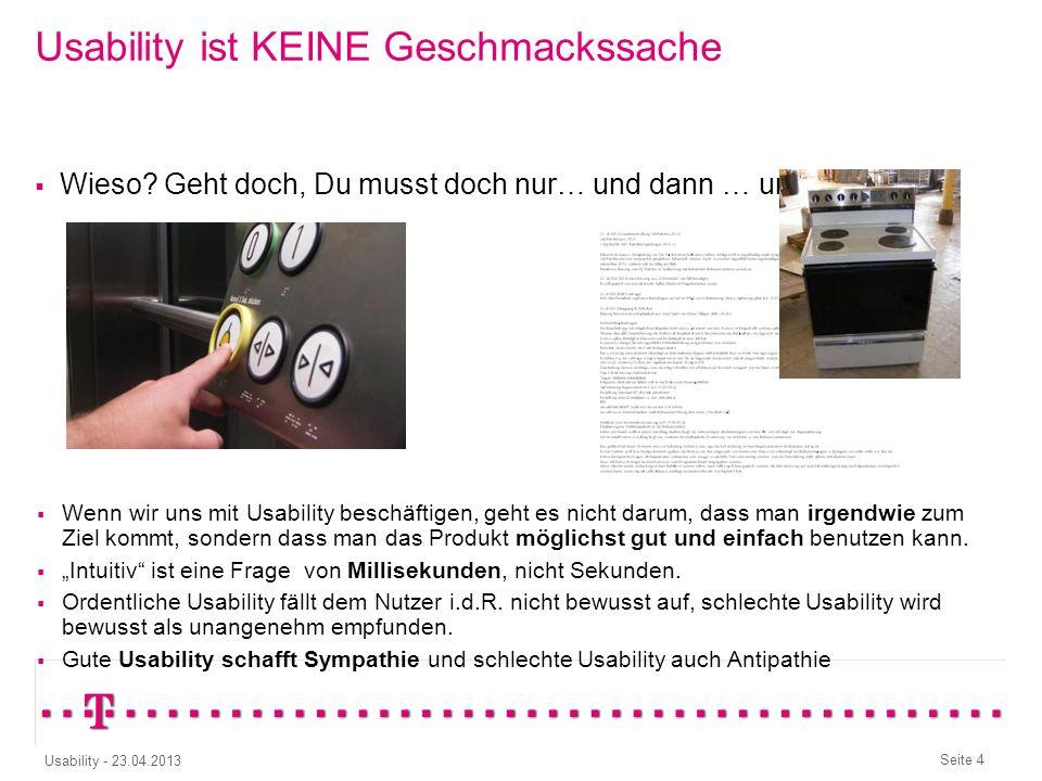 Seite 4 Usability - 23.04.2013 Wieso.