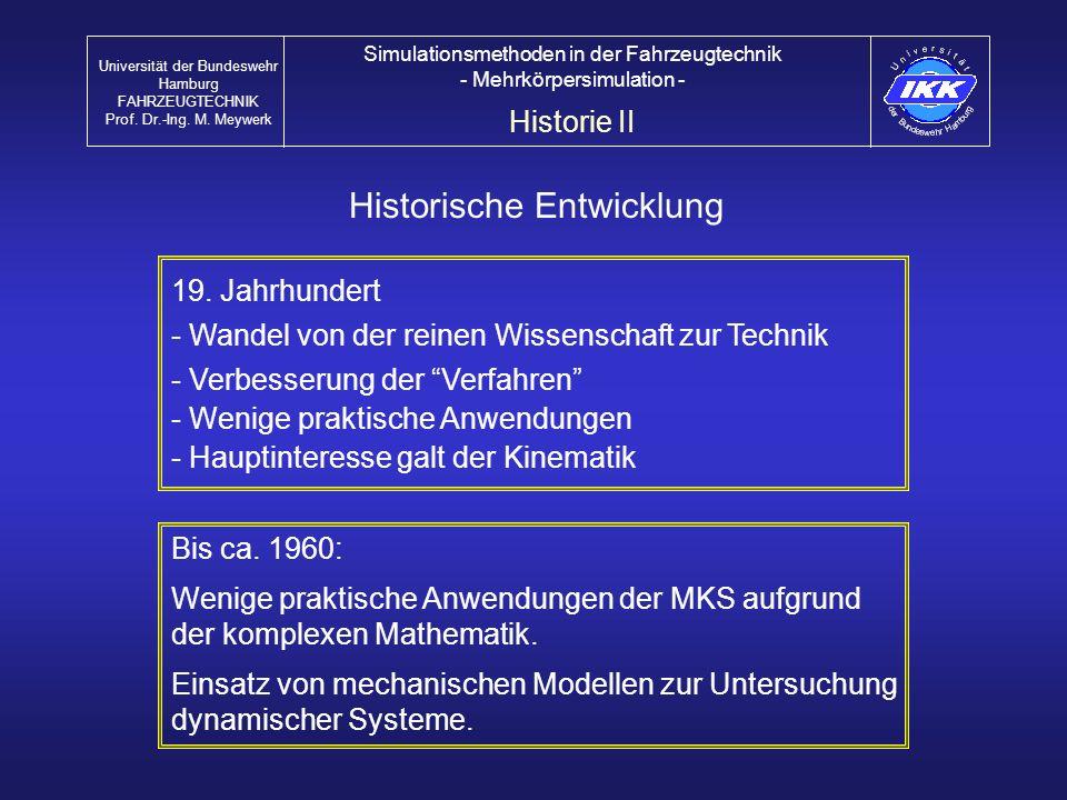 Aktuelle Entwicklungen / Trends Universität der Bundeswehr Hamburg FAHRZEUGTECHNIK Prof.