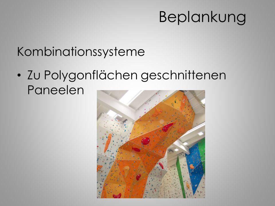Beplankung Kombinationssysteme Zu Polygonflächen geschnittenen Paneelen