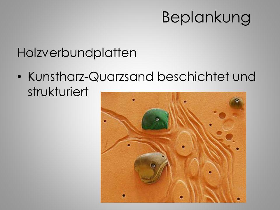 Beplankung Holzverbundplatten Kunstharz-Quarzsand beschichtet und strukturiert