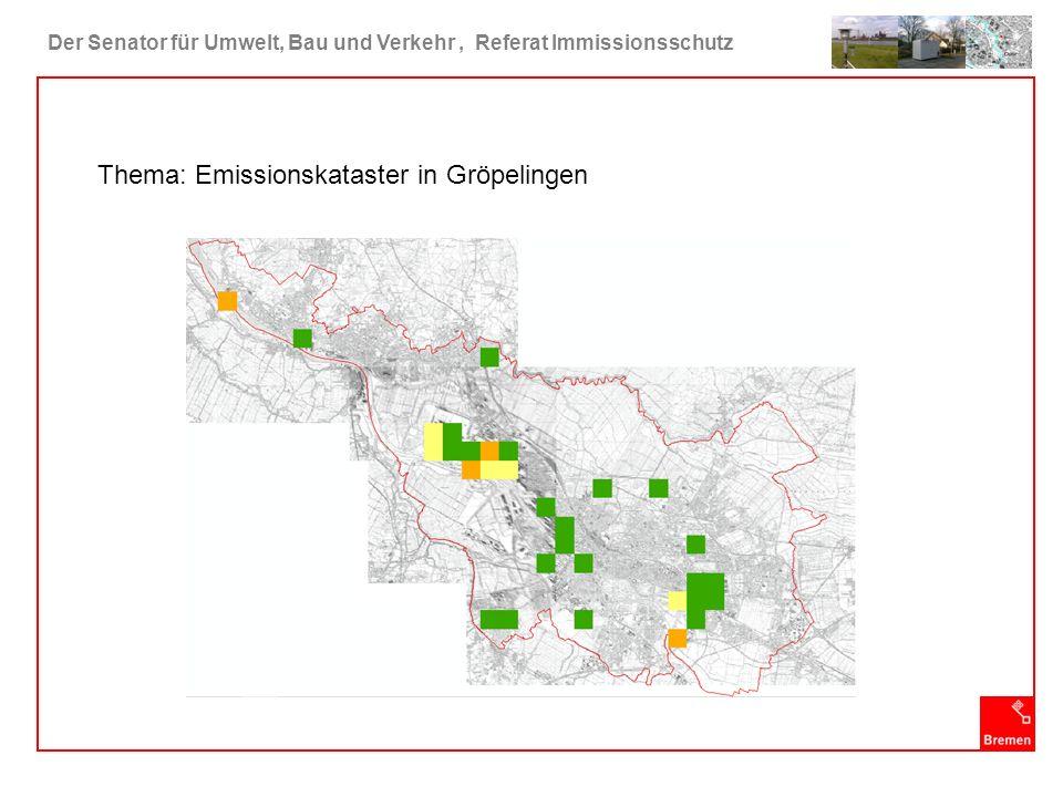 Der Senator für Umwelt, Bau und Verkehr, Referat Immissionsschutz PRTR Europäische Verordnung (E-PRTR-VO) Nr.