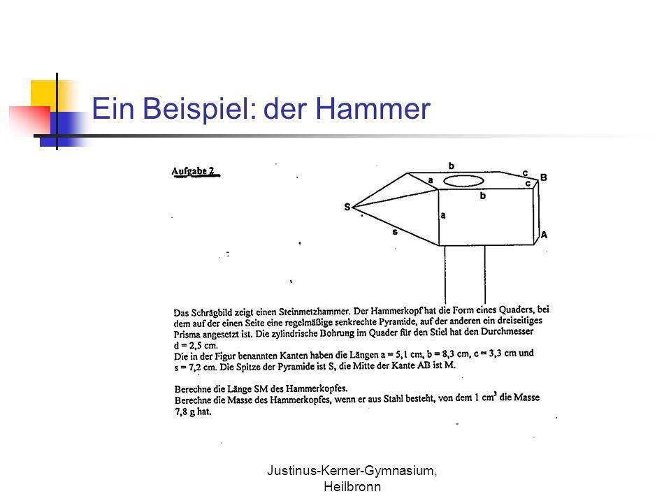 Justinus-Kerner-Gymnasium, Heilbronn Ein Beispiel: der Hammer