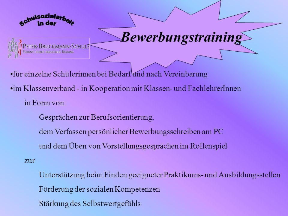 Zusammenarbeit auf Wunsch der SchülerInnen /Eltern mit: Jugendämtern Arbeitsagentur Heilbronn Beratungsstellen Jugendhilfeeinrichtungen Zentrum für Psychiatrie Ärzten /Therapeuten Kooperation mit außerschulischen Institutionen