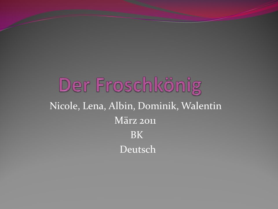 Nicole, Lena, Albin, Dominik, Walentin März 2011 BK Deutsch