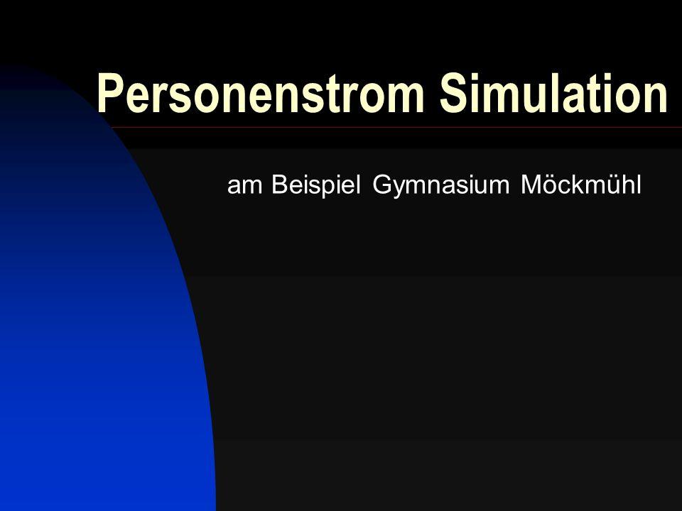 Personenstrom Simulation am Beispiel Gymnasium Möckmühl