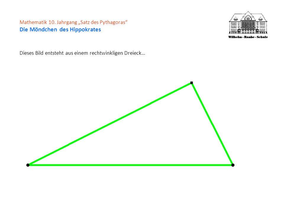 Dieses Bild entsteht aus einem rechtwinkligen Dreieck…