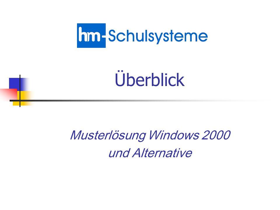 Musterlösung Windows 2000 und Alternative Überblick