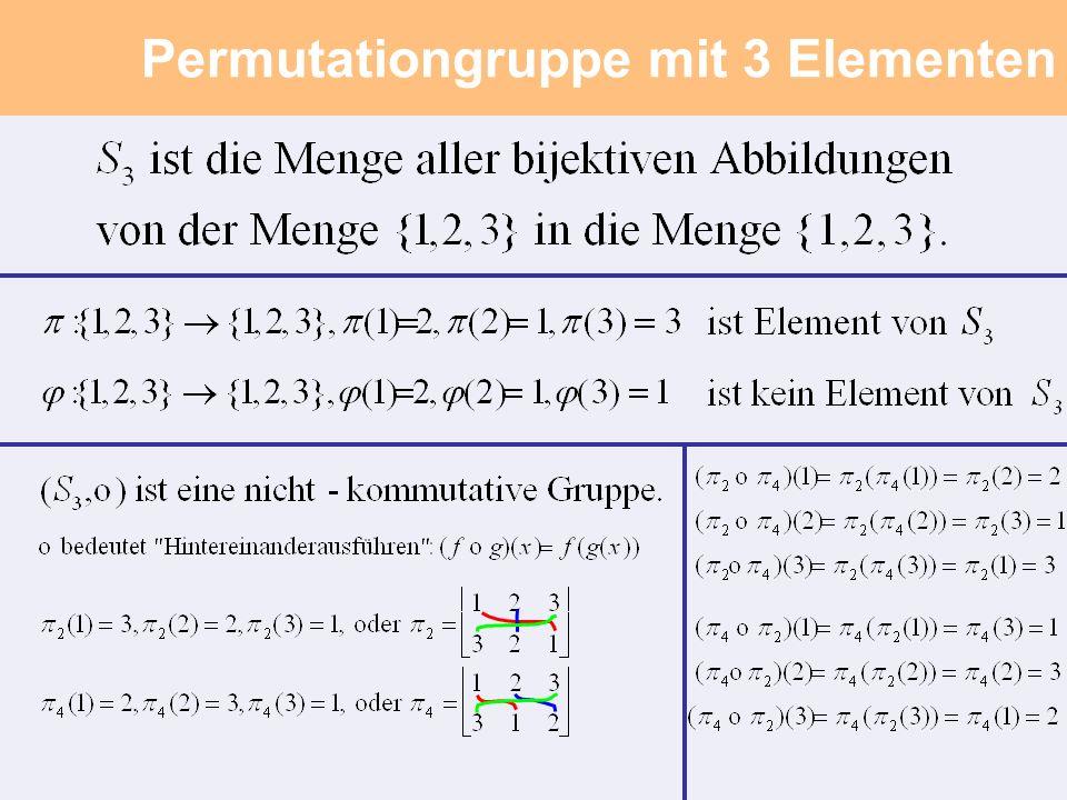 Permutationgruppe mit 3 Elementen