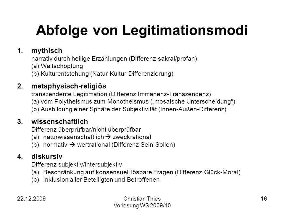 22.12.2009Christian Thies Vorlesung WS 2009/10 17 Dialektik des Fortschritts (vgl.