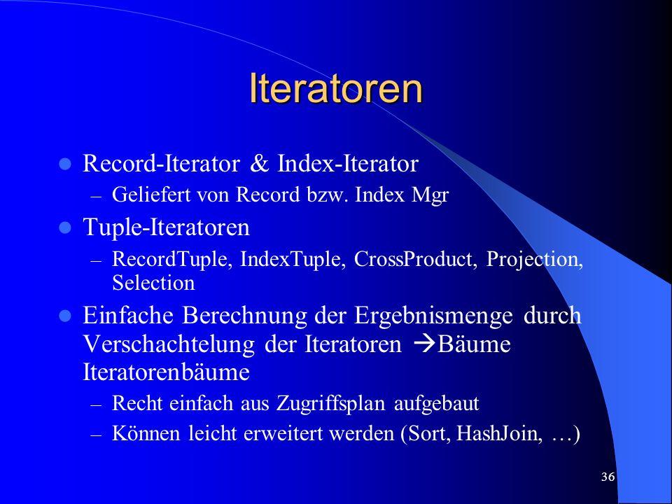 36 Iteratoren Record-Iterator & Index-Iterator – Geliefert von Record bzw.