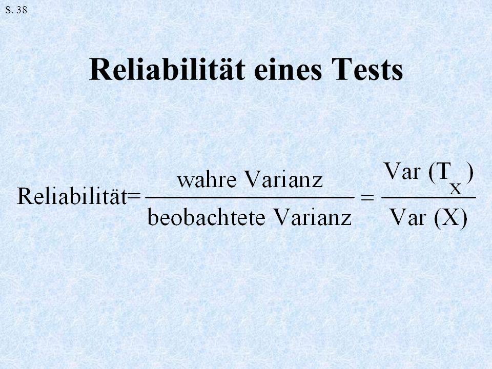 Reliabilität eines Tests S. 38